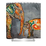 Elephant Play Day Shower Curtain