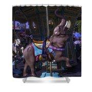 Elephant Ride At The Fair Shower Curtain
