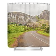 Elephant Rock, Malawi Shower Curtain