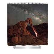 Elephant Rock Milky Way Galaxy Shower Curtain