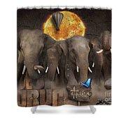 Elephant Run Shower Curtain