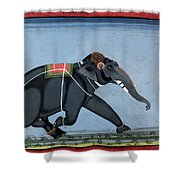 Elephant & Trainer, C1750 Shower Curtain