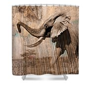 Elephant Visions Wall Art Shower Curtain