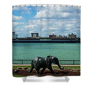 Elephants Go A Marching  Shower Curtain