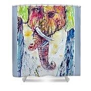 Elephants In Love Shower Curtain