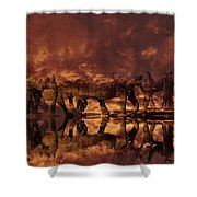 Elephants In The Clouds Shower Curtain