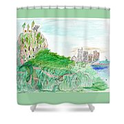 Elephoot And Friends In Satpura Mountains In India Shower Curtain