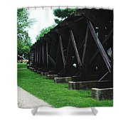 Elevated Railroad Shower Curtain