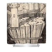 Elevator To Heaven Shower Curtain