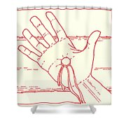 Eleventh Station- Jesus Is Nailed To The Cross  Shower Curtain