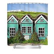 Elf Houses Shower Curtain