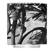Elgin Bicycle Shadow Shower Curtain