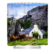 Elgol Cottage, Skye Shower Curtain