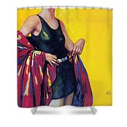 Elida Cremes In Sonne Und See - Woman In Swimsuit - Vintage Advertising Poster Shower Curtain