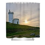 Elie Lighthouse. Late Afternoon. Shower Curtain