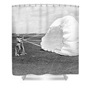 Elinor Smith Parachutes Shower Curtain