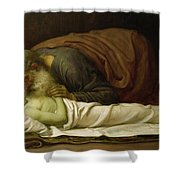 Elisha Raising The Son Of The Shunamite Shower Curtain by Frederic Leighton