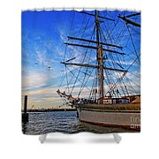 Elissa Sailing Ship Shower Curtain