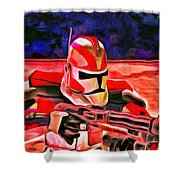 Elite Trooper - Da Shower Curtain