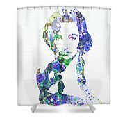 Elithabeth Taylor Shower Curtain by Naxart Studio