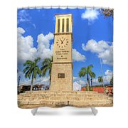 Eliza James-mcbean Clock Tower Shower Curtain