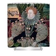 Elizabeth I Armada Portrait Shower Curtain by George Gower