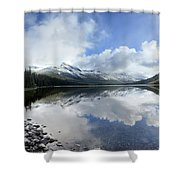 Elizabeth Lake Detail 2 - Glacier National Park Shower Curtain