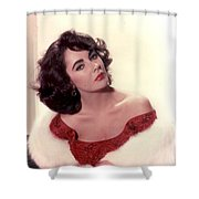 Elizabeth Taylor Diamond Are Forever With Her Collectin Shower Curtain