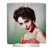 Elizabeth Taylor, Vintage Movie Star Shower Curtain