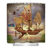 Elizabethan Ship Shower Curtain