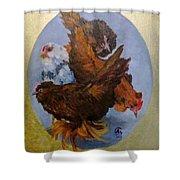Elizabeth's Chickens Shower Curtain