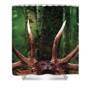 Elk Call Shower Curtain