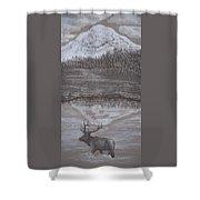 Elk Crossing The Refuge Shower Curtain