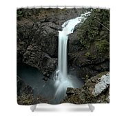 Elk Falls Provincial Park Waterfall Shower Curtain