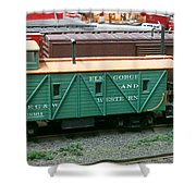 Elk Gorge And Western Caboose Shower Curtain