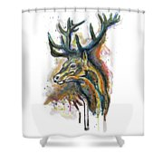 Elk Head Shower Curtain