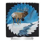 Elk In Snow Shower Curtain