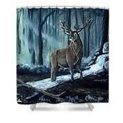 Elk In The Morning Shower Curtain