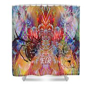 Elk Moon Shower Curtain