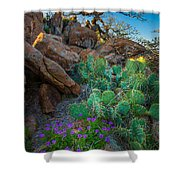 Elk Mountain Flowers Shower Curtain by Inge Johnsson