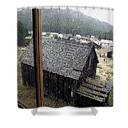 Elkhorn Snowfall Shower Curtain