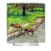 Elks Crossing Shower Curtain