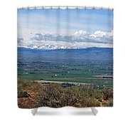 Ellensburg Valley With Sagebrush And Lupine Shower Curtain