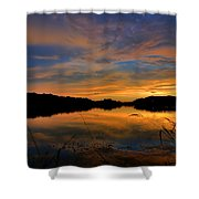 Ellenton Lake Sunset 02 Shower Curtain