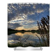Ellenton Lake Sunset 05 Shower Curtain