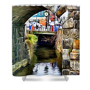 Ellicott City Bridge Arch Shower Curtain