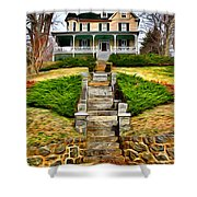 Ellicott City House Shower Curtain