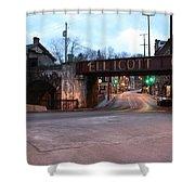 Ellicott City Nights - Entrance To Main Street Shower Curtain