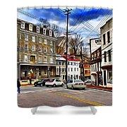 Ellicott City Streets Shower Curtain
