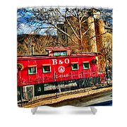 Ellicott City Train And Factory Shower Curtain